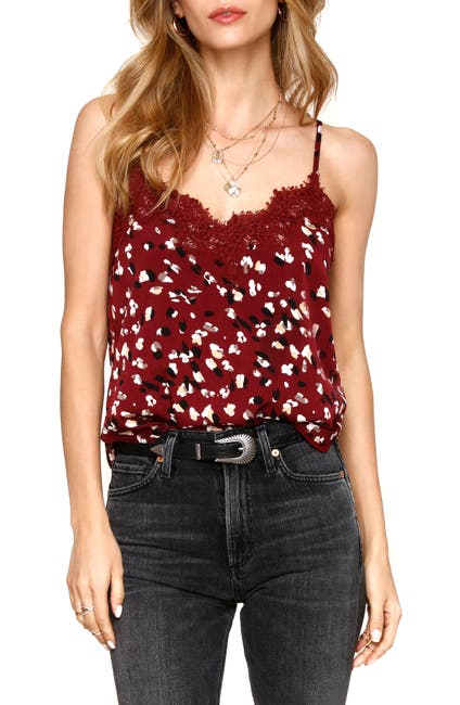 Image of Heartloom Andra Lace Trim Printed Cami