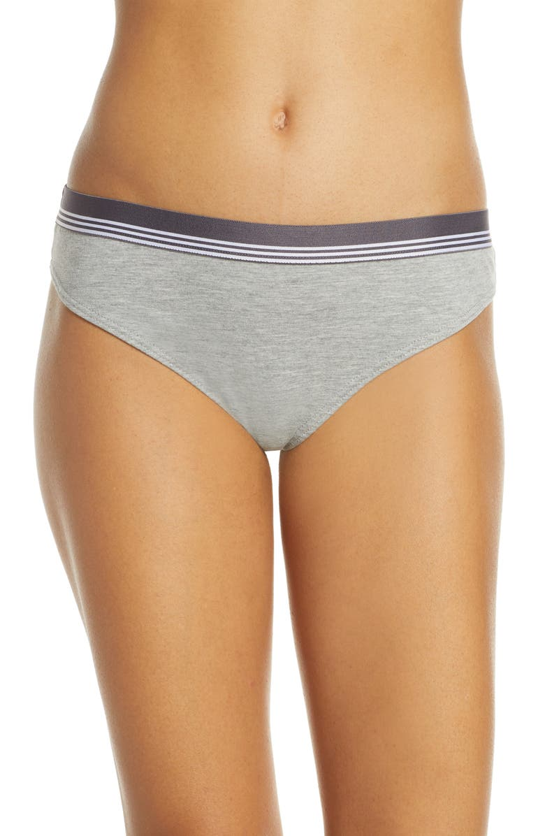 BP. Sporty Stripe Thong, Main, color, GREY PEARL HEATHER