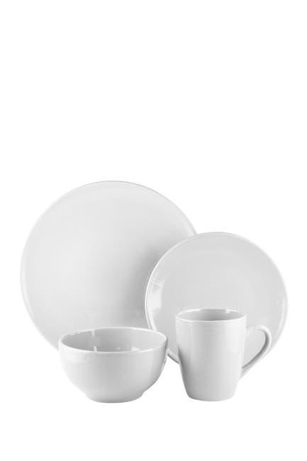Image of Jay Import Bistro Gray 16-Piece Dinnerware Set