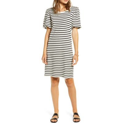 Rachel Parcell Bubble Sleeve T-Shirt Dress, Black (Nordstrom Exclusive)