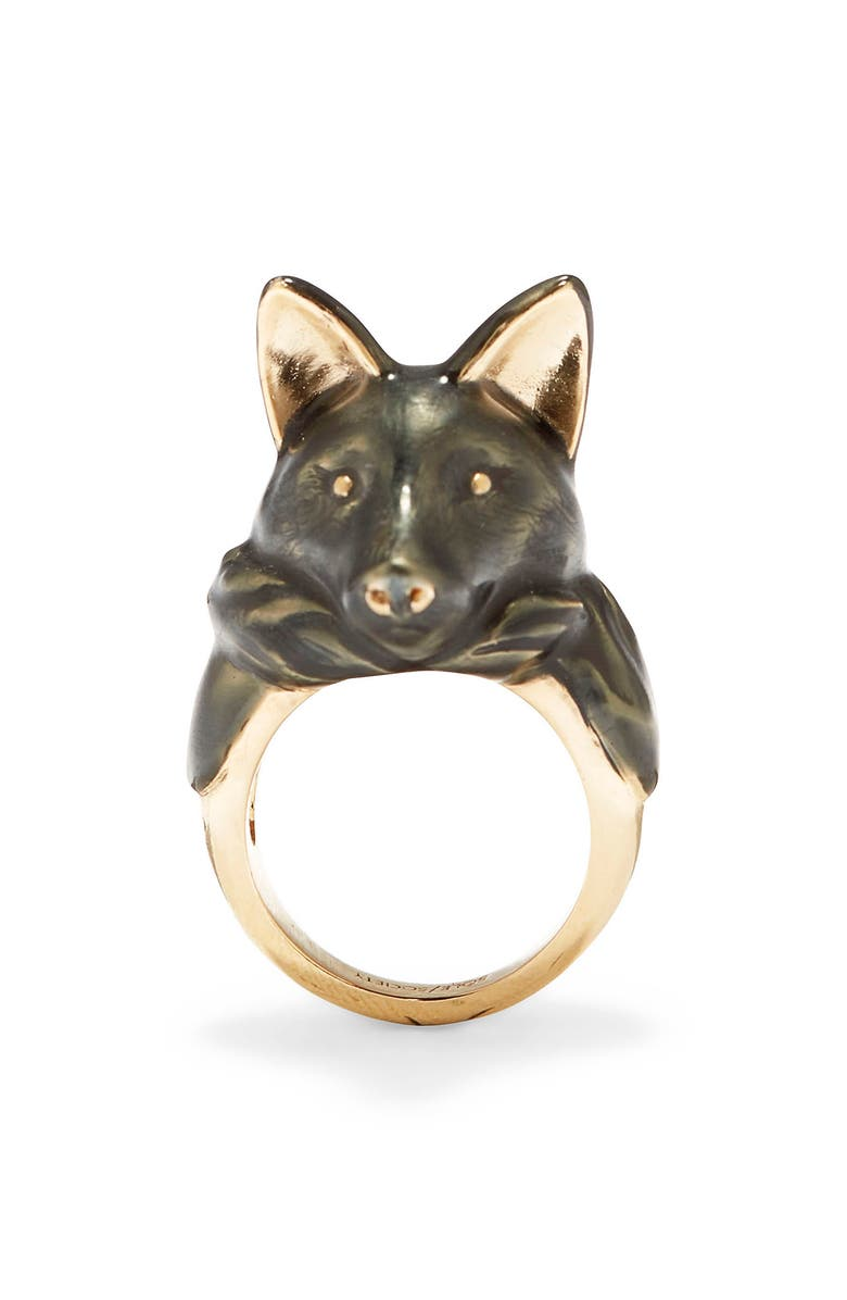 SOLE SOCIETY Fox Ring, Main, color, 12K SOFT POLISH GOLD/CRYSTAL