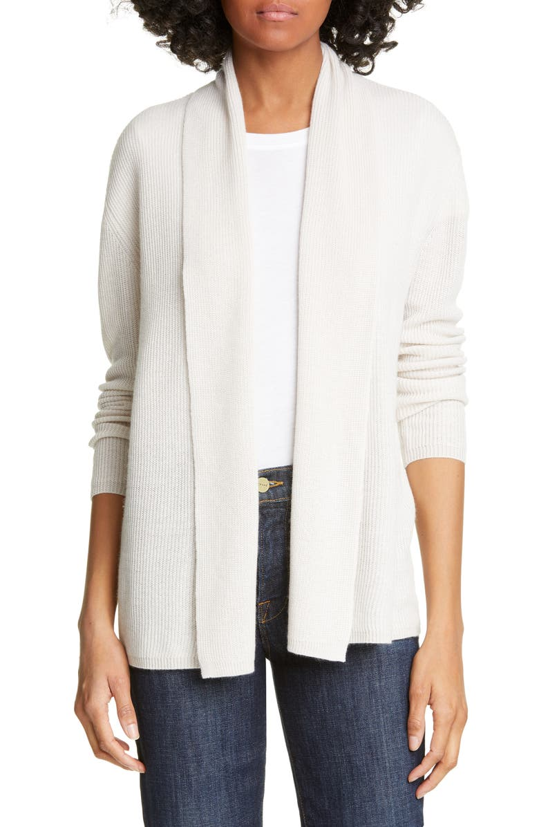 NORDSTROM SIGNATURE Cashmere & Linen Open Cardigan, Main, color, 270