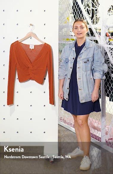 Twist Detail Cotton Blend Crop Sweater, sales video thumbnail