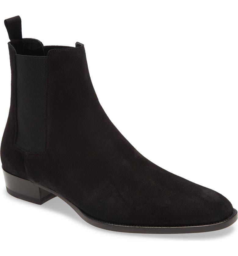 SAINT LAURENT Wyatt Chelsea Boot, Main, color, NERO