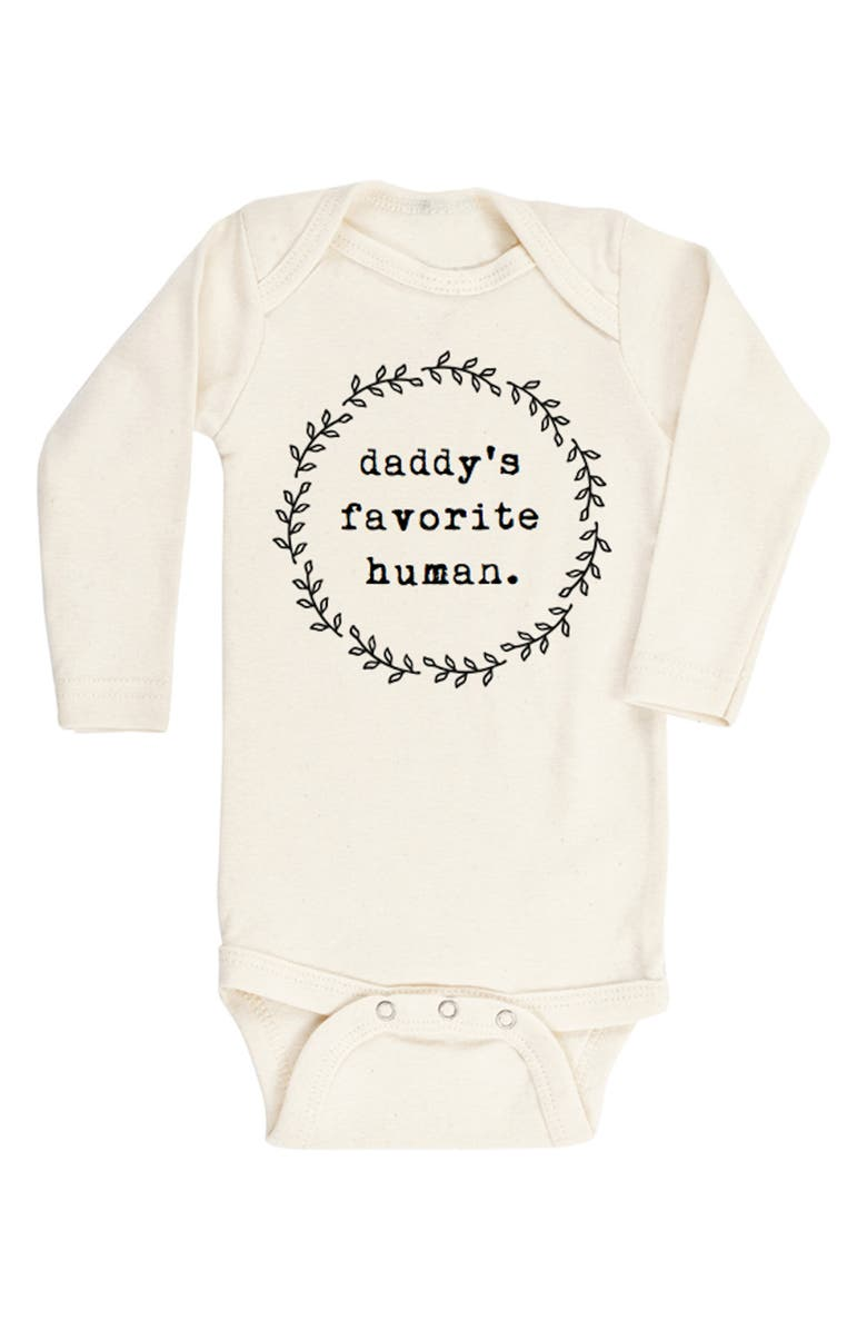 TENTH & PINE Daddy's Favorite Human Organic Cotton Bodysuit, Main, color, NATURAL