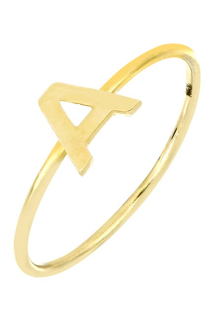 Image of Bony Levy 14K Yellow Gold Small Initial Ring - Multiple Letters Available