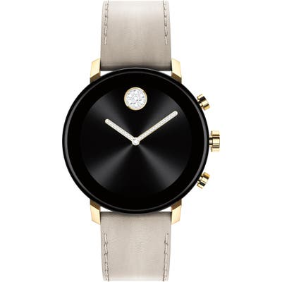 Movado Bold Connect 2.0 Leather Strap Smart Watch, 40Mm