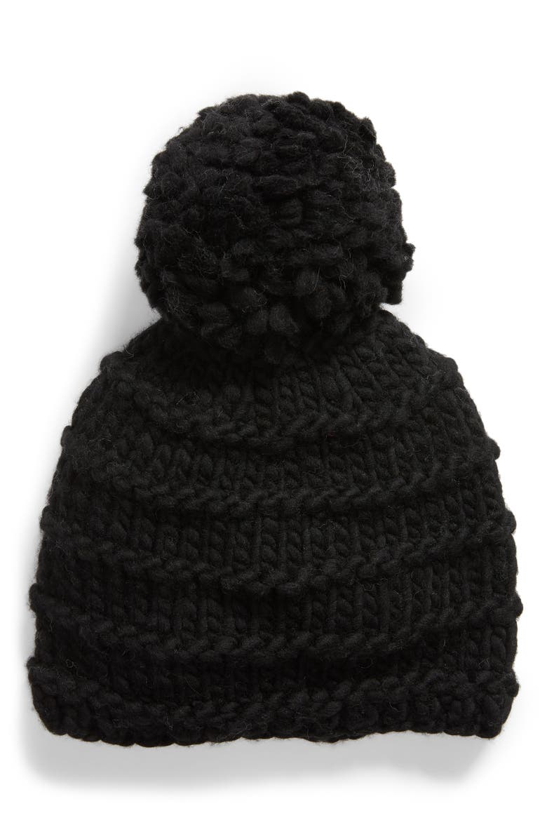 FRYE Tuck Jersey Beanie, Main, color, 001