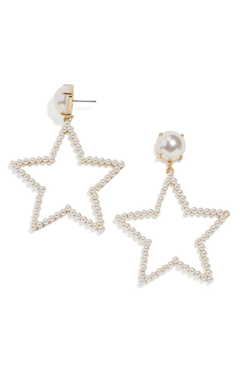 BAUBLEBAR Grace Drop Earrings, Main, color, PEARL