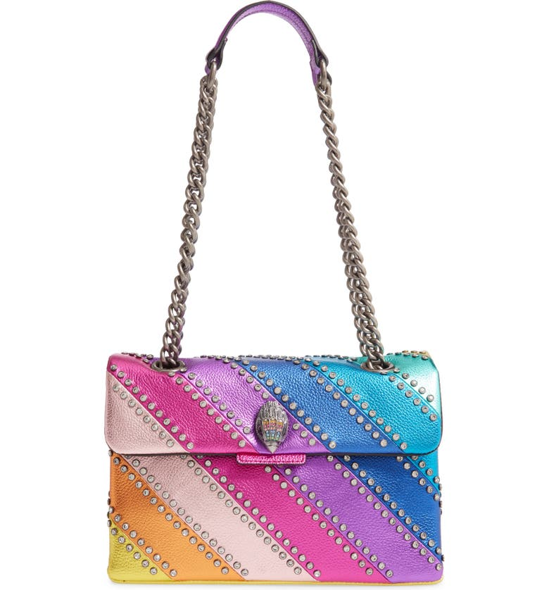 KURT GEIGER LONDON Crystal Kensington Shoulder Bag, Main, color, MULTI/ OTHER
