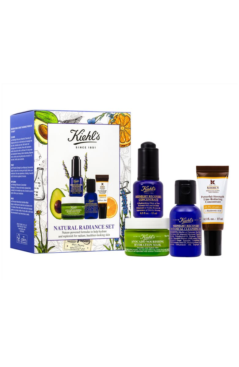 KIEHL'S SINCE 1851 Midnight Recovery Cleansing Oil & Concentrate Set, Main, color, 000
