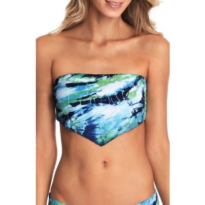 Maaji Kaleidoscope Dana Bandeau Bikini Top, Blue