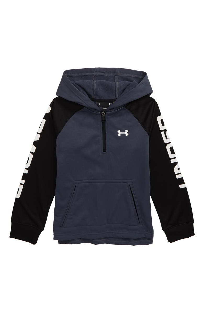 UNDER ARMOUR Half Zip Hoodie, Main, color, WIRE