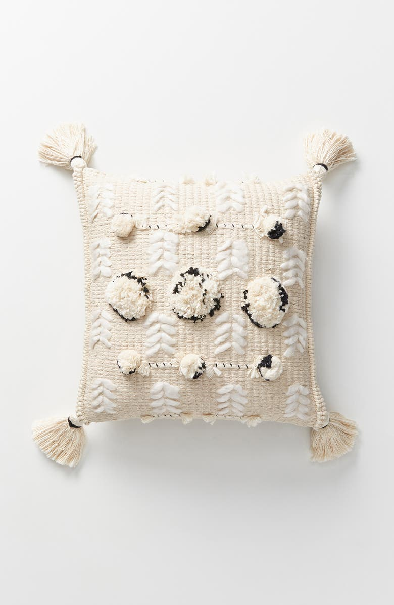 ANTHROPOLOGIE Kama Accent Pillow, Main, color, NATURAL