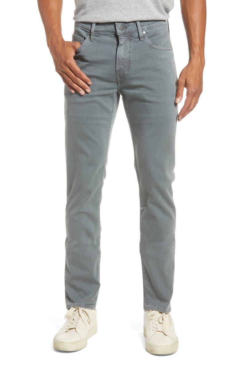 PAIGE Transcend - Lennox Slim Jeans, Main, color, VINTAGE WILD GREY