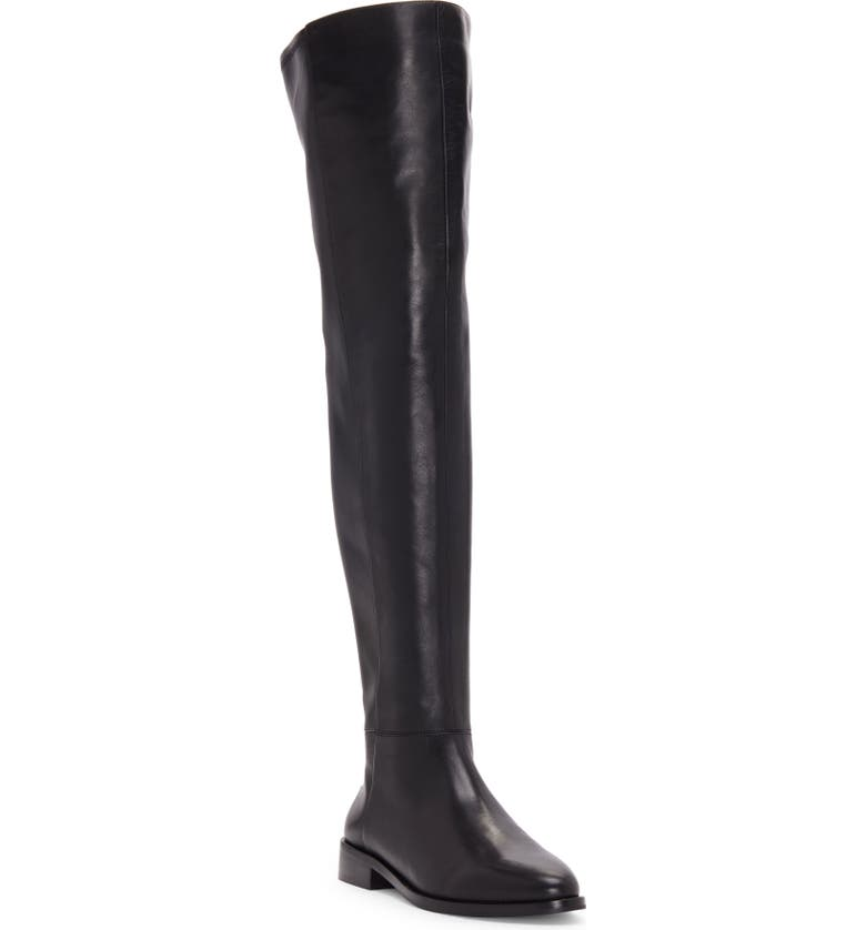 VINCE CAMUTO Hailie Over the Knee Boot, Main, color, BLACK LEATHER