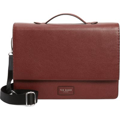 Ted Baker London Housed Leather Satchel - Red