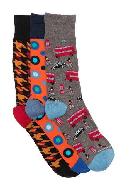 Image of Unsimply Stitched Printed Crew Socks - Pack of 3