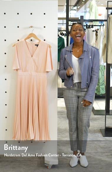Split Sleeve Pleated Midi Dress, sales video thumbnail