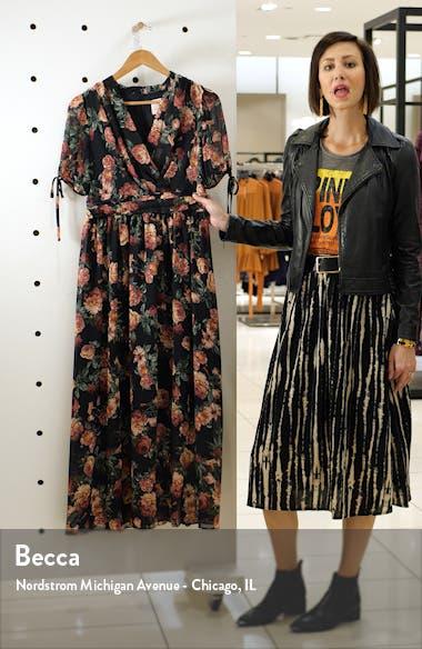 Ashlynn Floral Print Chiffon Maxi Dress, sales video thumbnail
