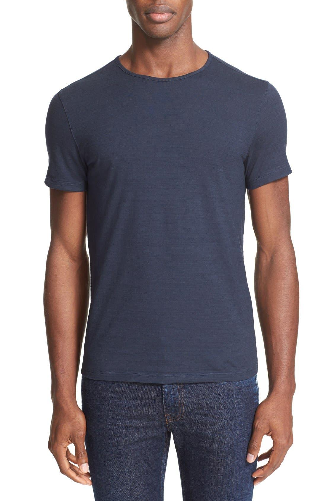 Slub Slim Fit Pima Cotton T-Shirt