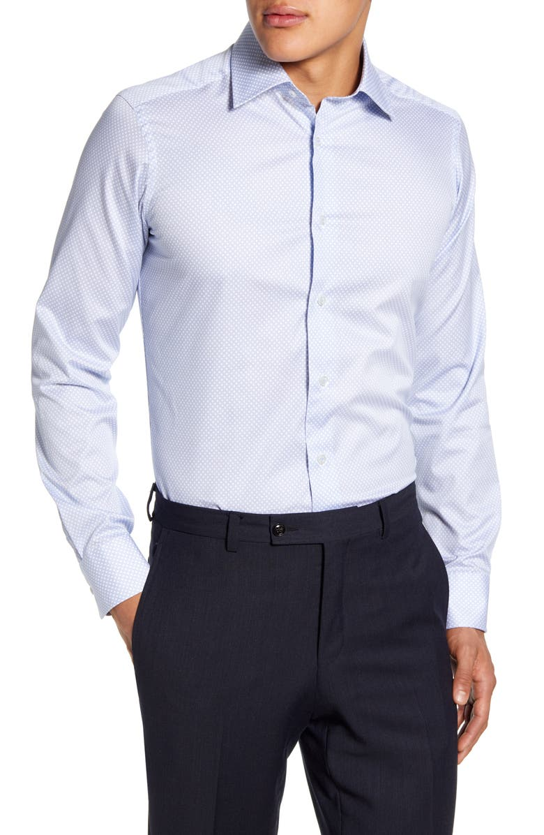 DAVID DONAHUE Slim Fit Dress Shirt, Main, color, 400