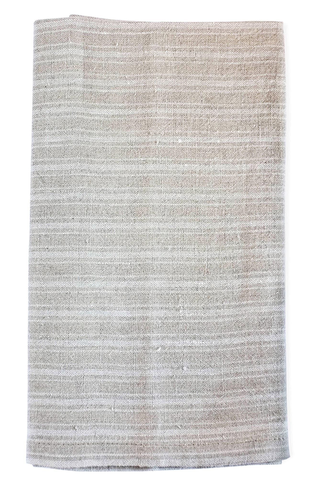 Caravan Set Of 2 Boat Stripe Tea Towels Size One Size  Beige