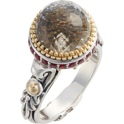 Konstantino Pythia Small Crystal Ring