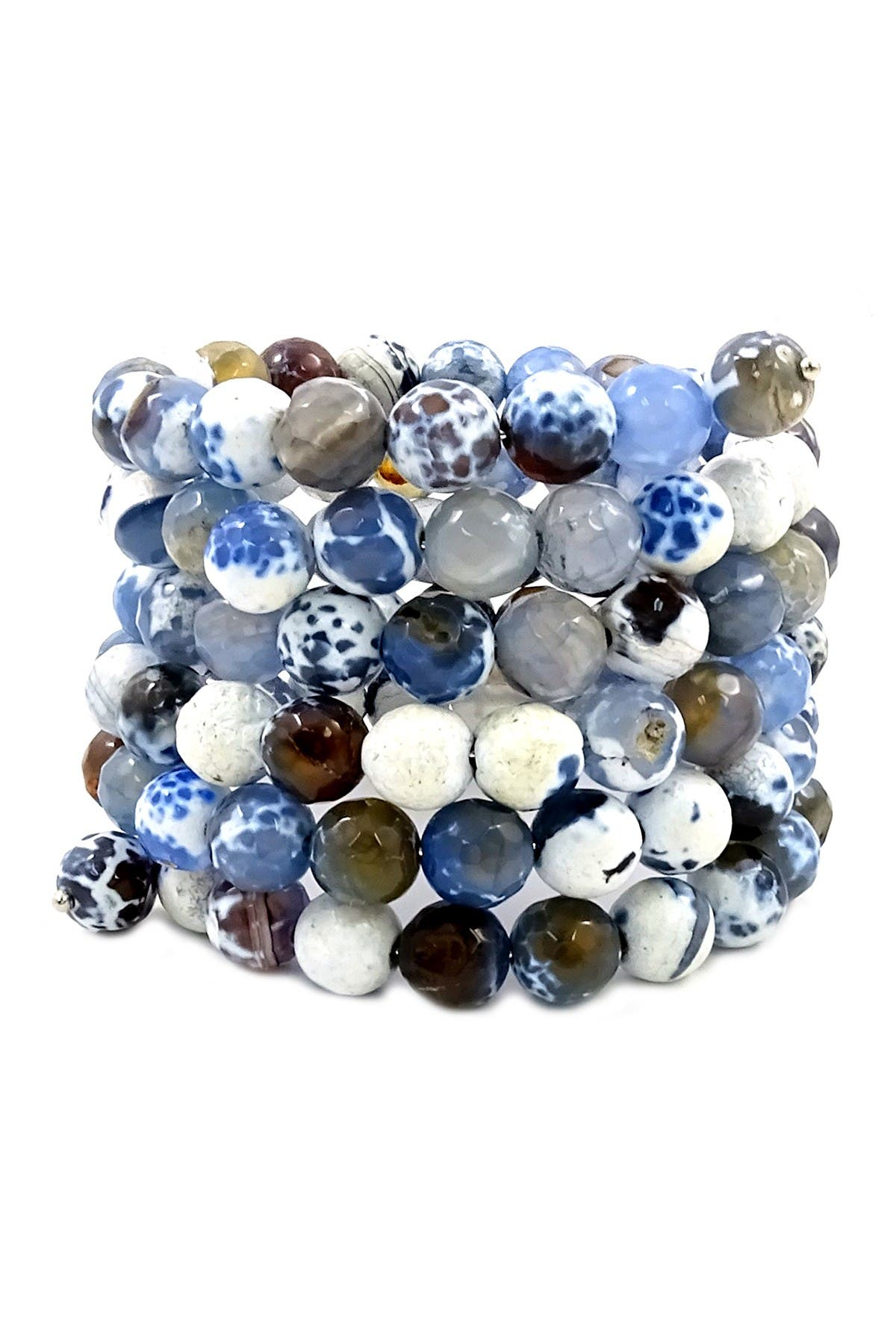 Image of Savvy Cie Agate Beaded Wrap Bracelet