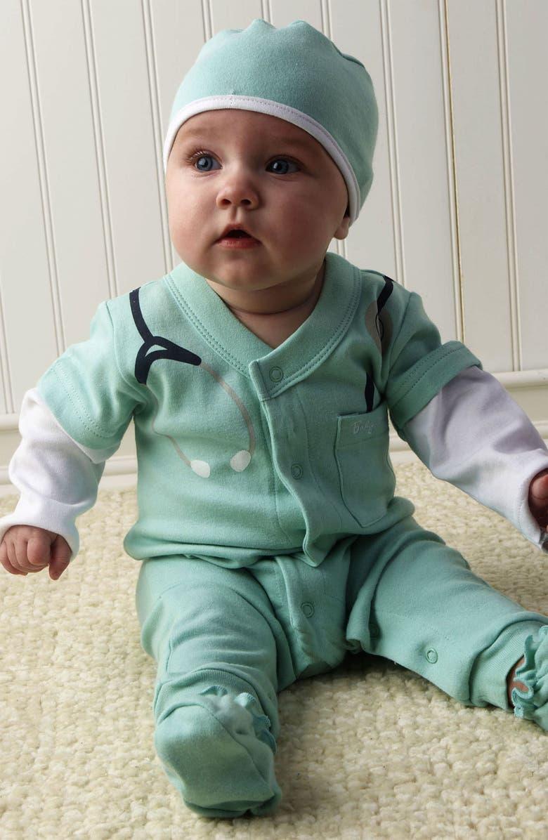 Baby Aspen 'Baby MD' Romper Set (Baby) | Nordstrom