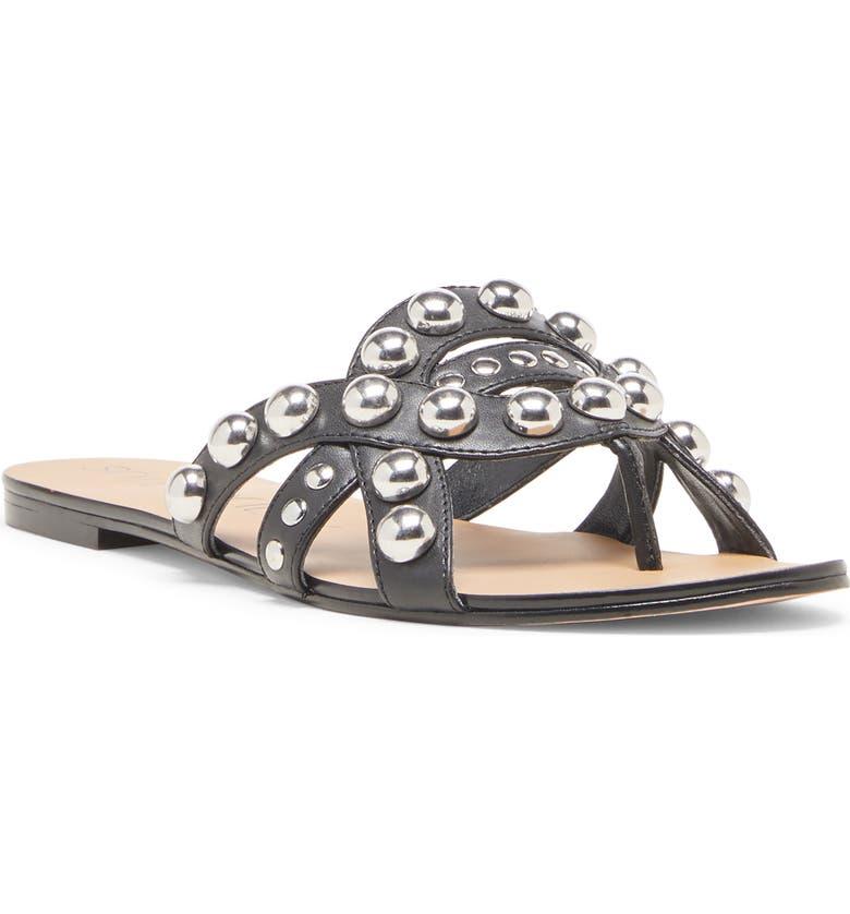 SOLE SOCIETY Emmalyn Slide Sandal, Main, color, 001