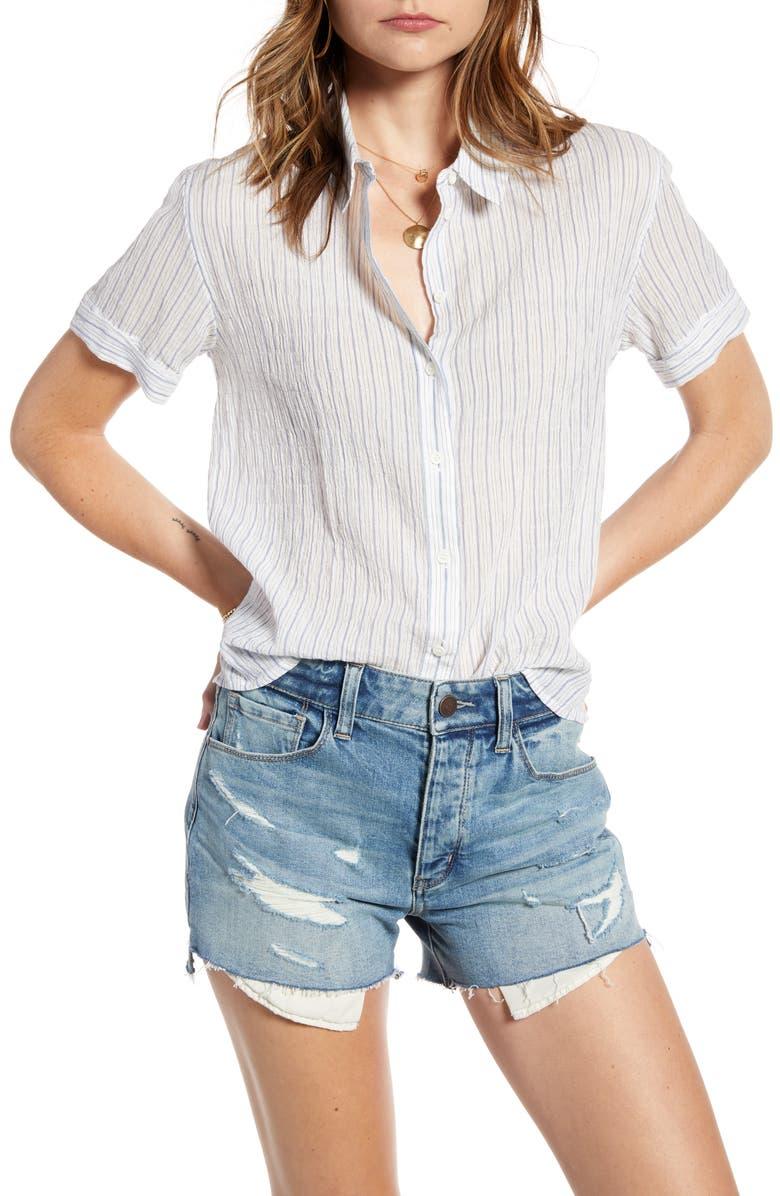 TREASURE & BOND Stripe Button-Up Shirt, Main, color, 100