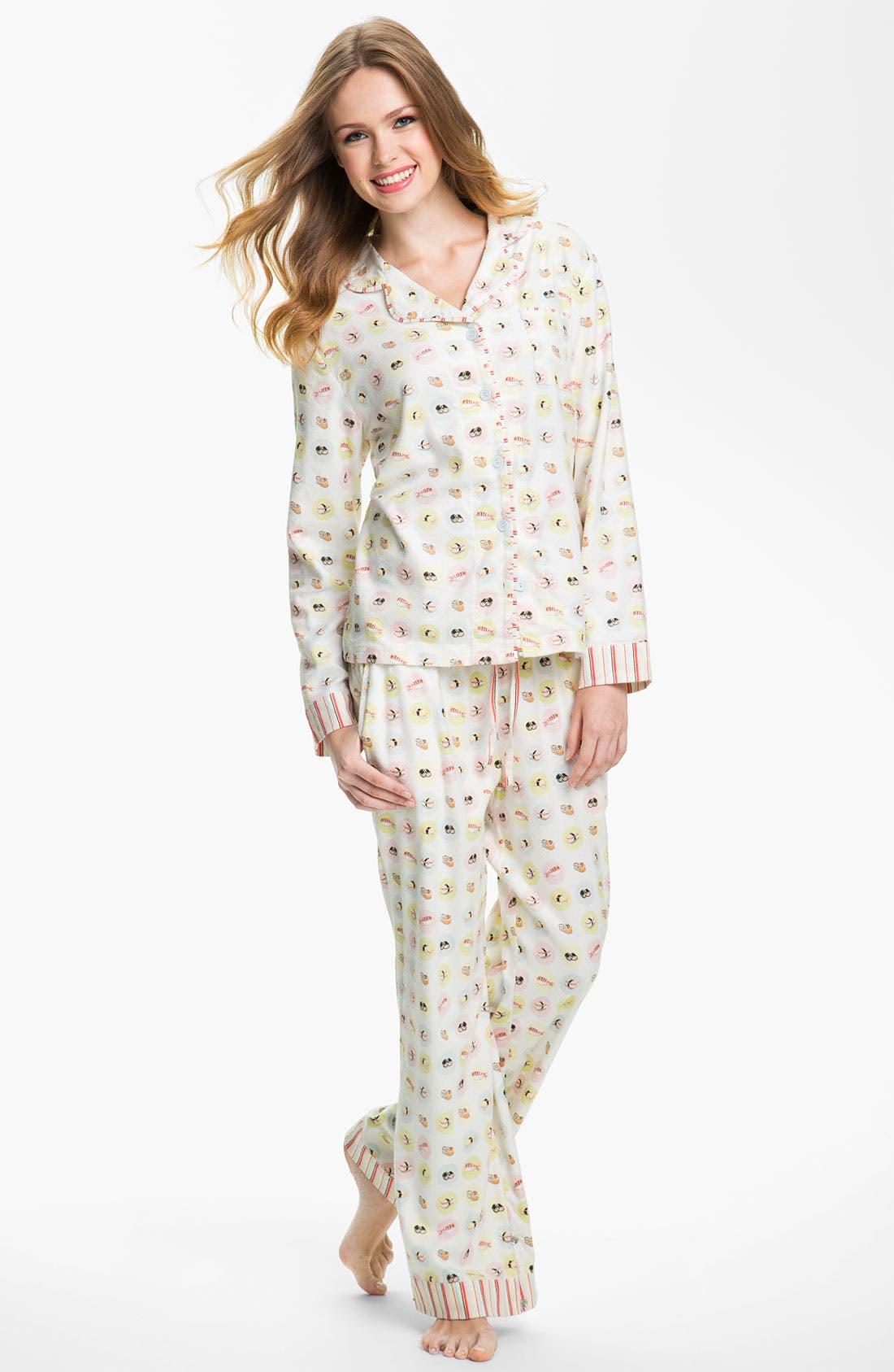 ,                             Flannel Pajamas,                             Main thumbnail 7, color,                             100
