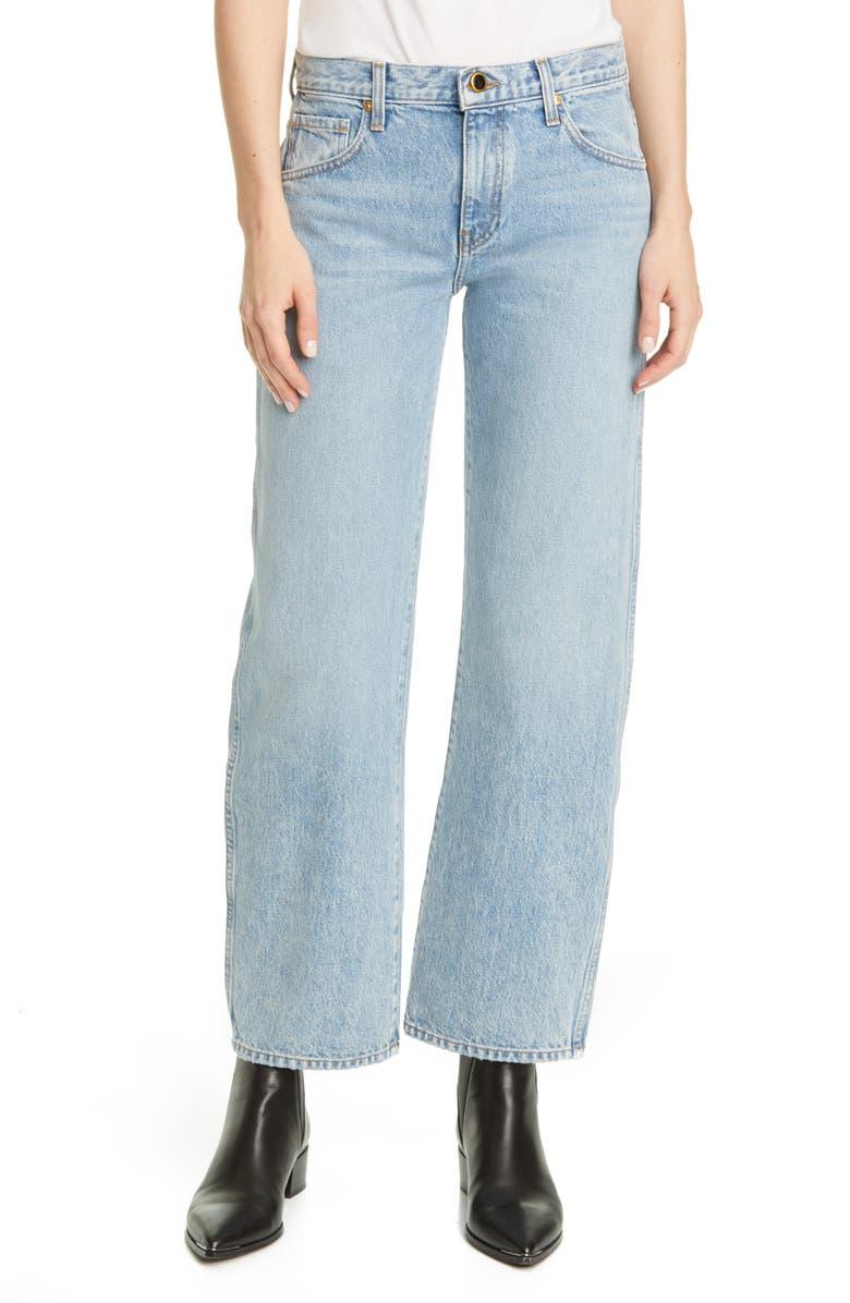 KHAITE Kerrie Straight Leg Jeans, Main, color, SANTA FE