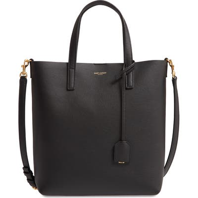Saint Laurent Toy North/south Leather Tote - Black