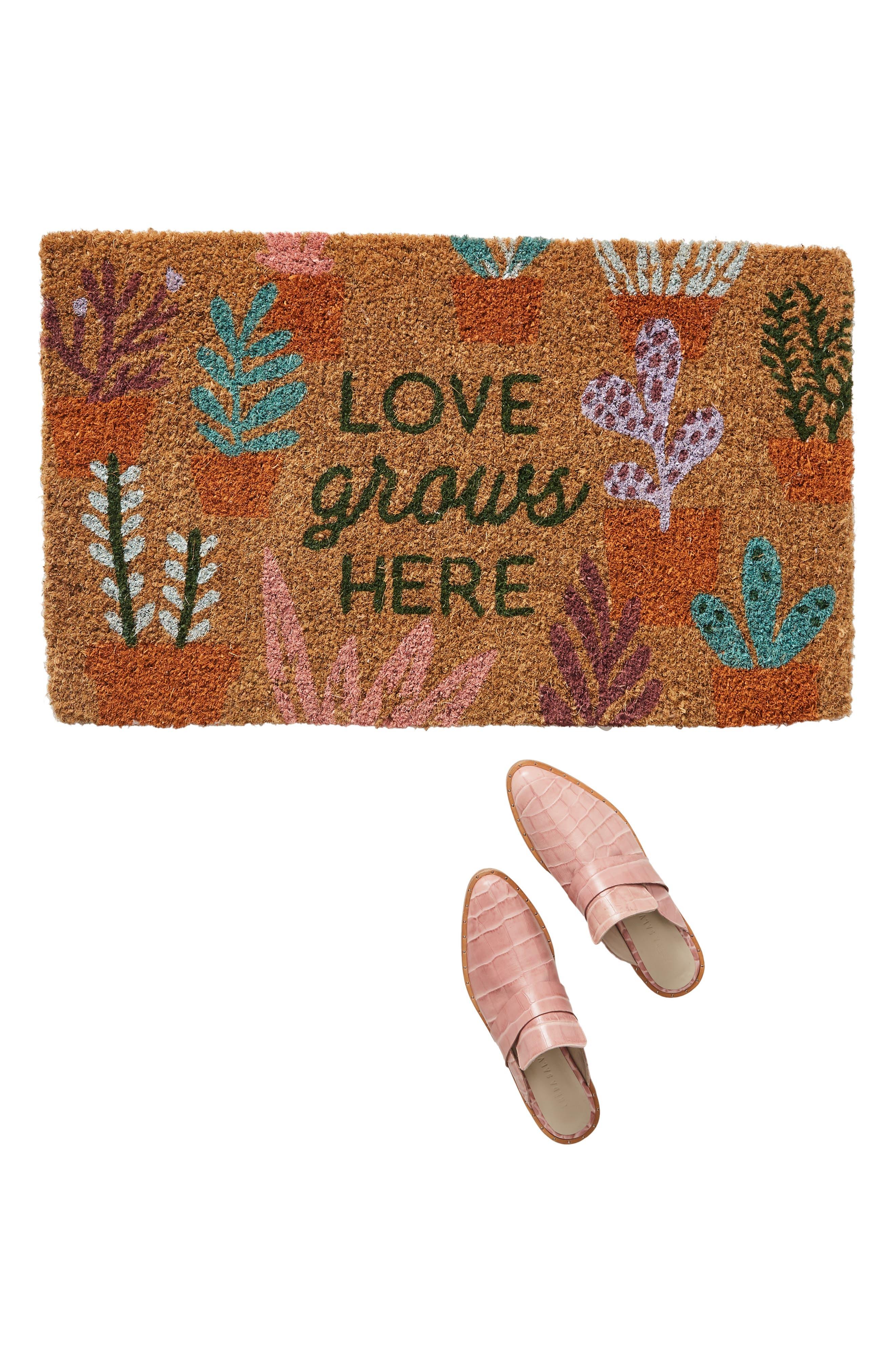 ,                             Love Grows Here Doormat,                             Alternate thumbnail 2, color,                             MULTI PINK