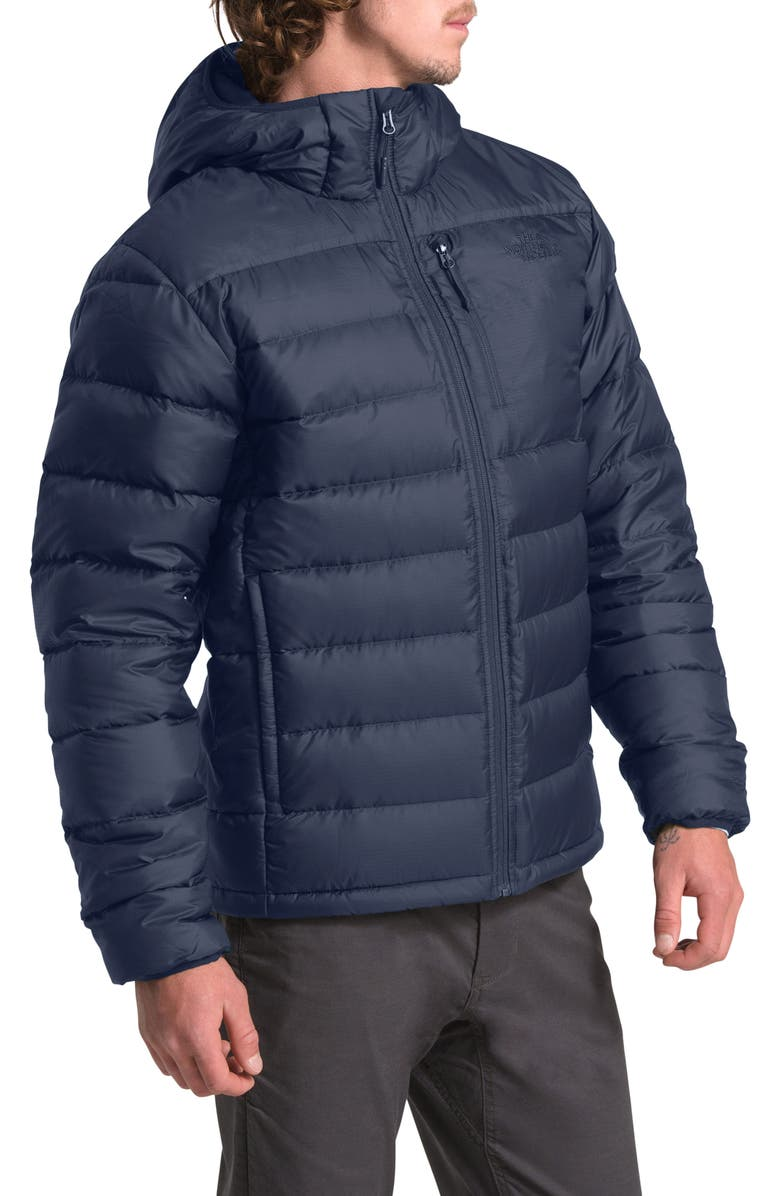 THE NORTH FACE Aconcagua Down Hooded Jacket, Main, color, URBAN NAVY