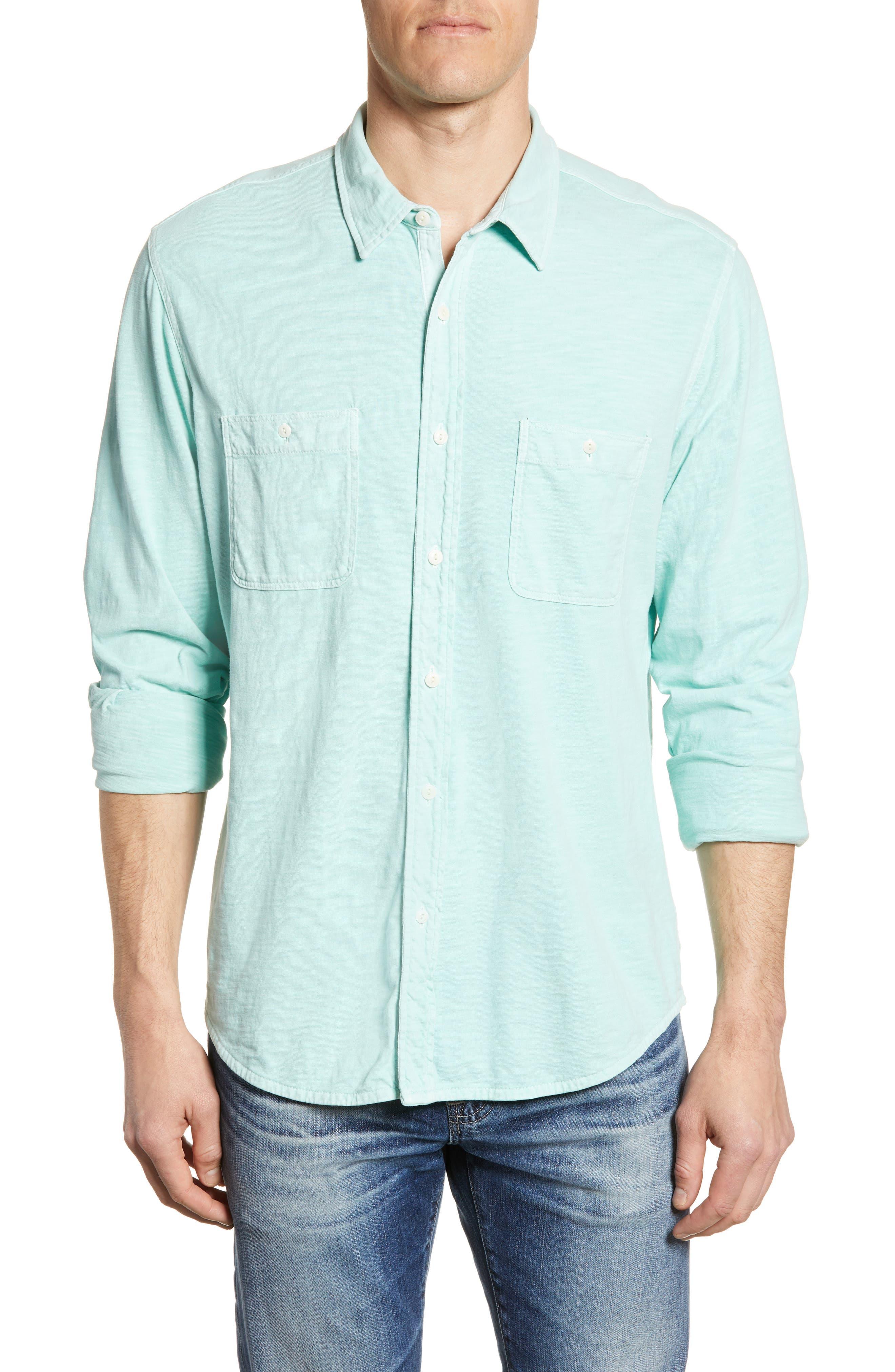 Faherty Seasons Regular Fit Cotton Sport Shirt
