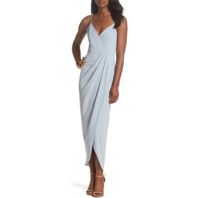 Shona Joy Tulip Hem Maxi Dress, Blue