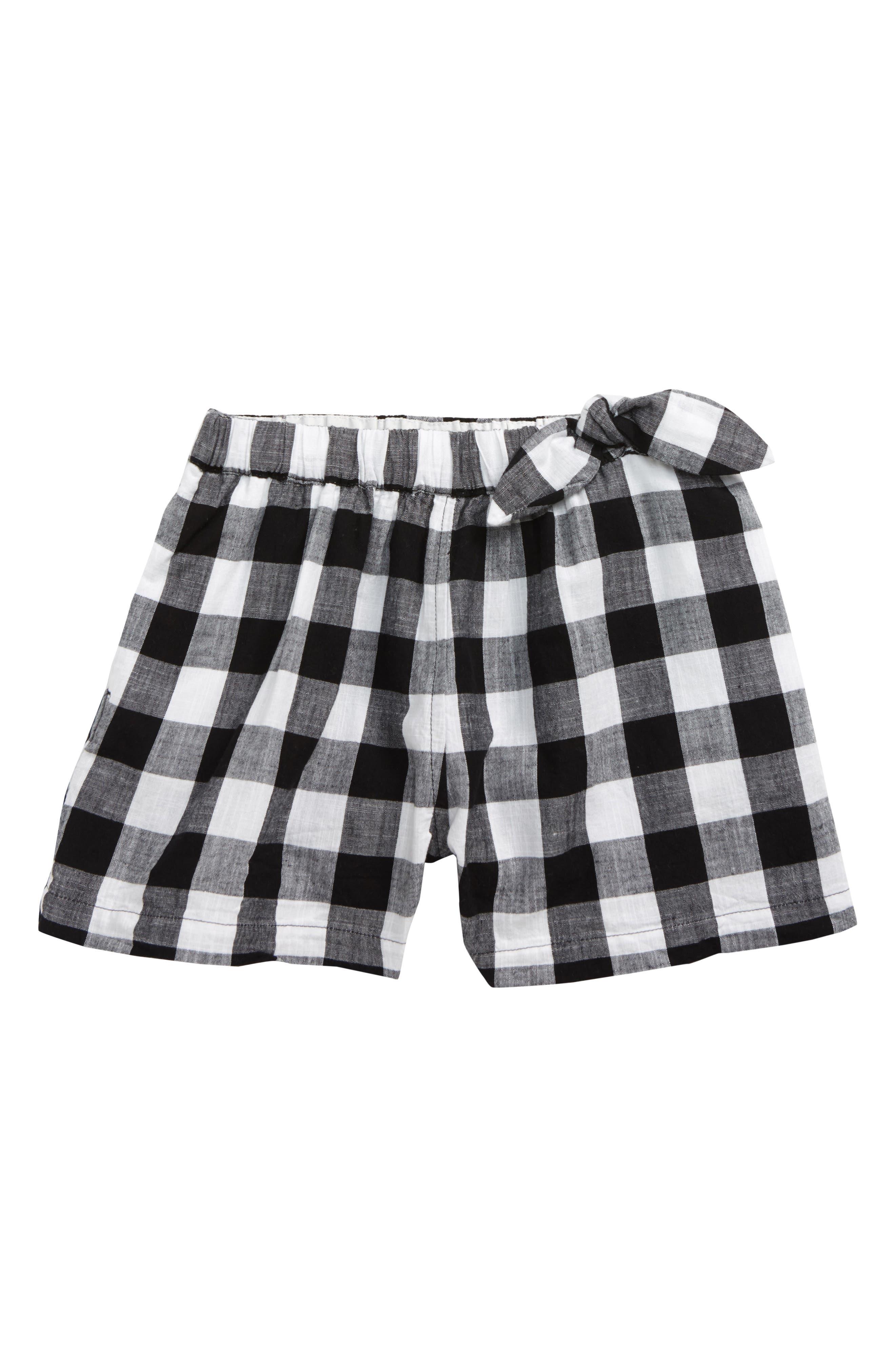 Girls Crewcuts By Jcrew Buffalo Check PullOn Shorts Size 14  White