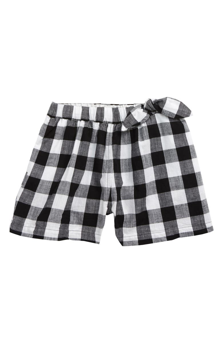 CREWCUTS BY J.CREW Buffalo Check Pull-On Shorts, Main, color, 100