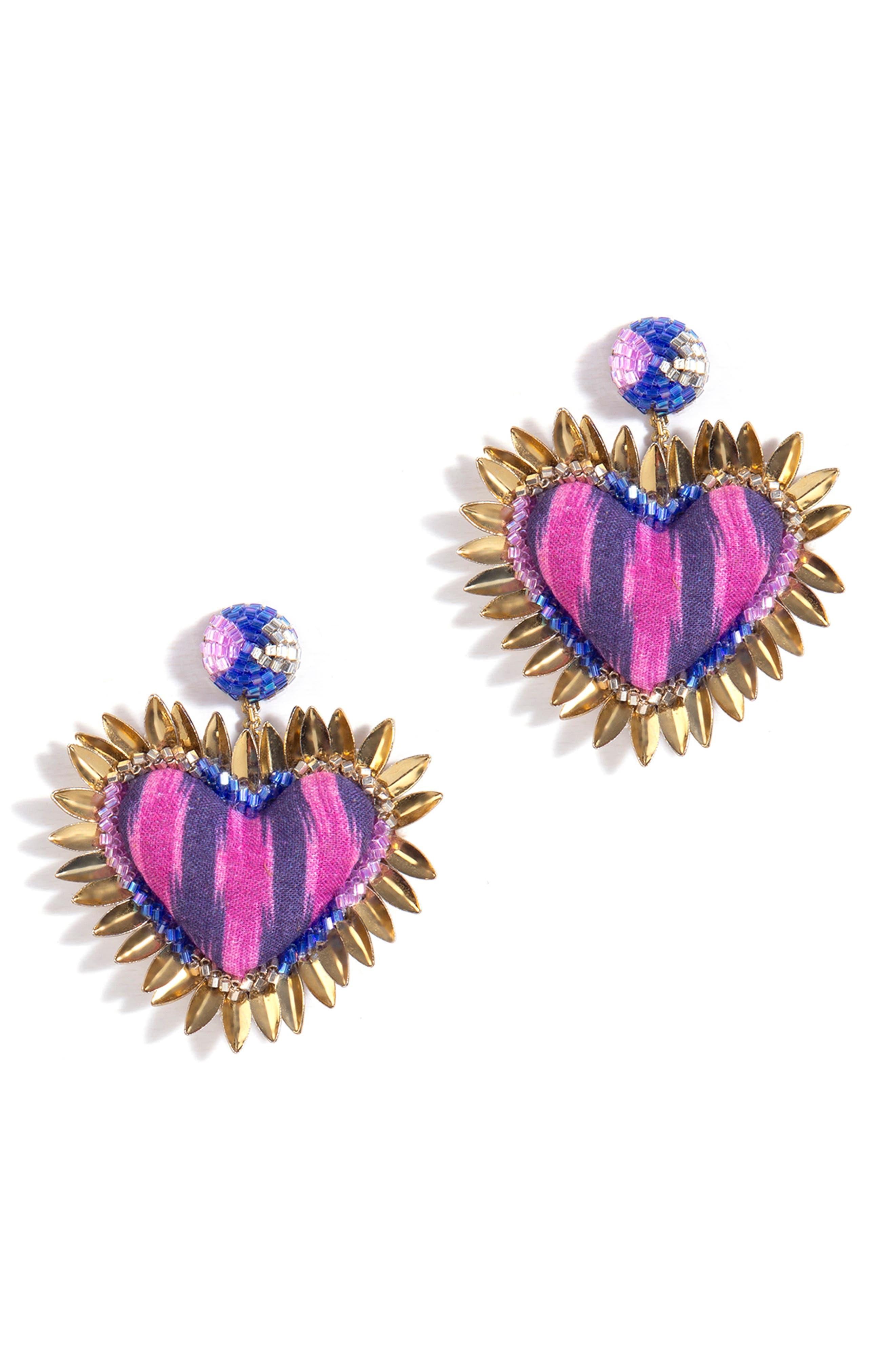 Prisha Heart Drop Earrings