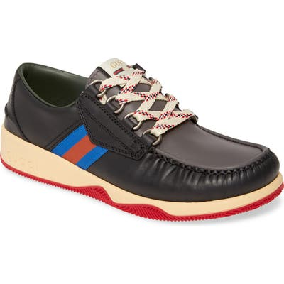 Gucci Boat Shoe, Black