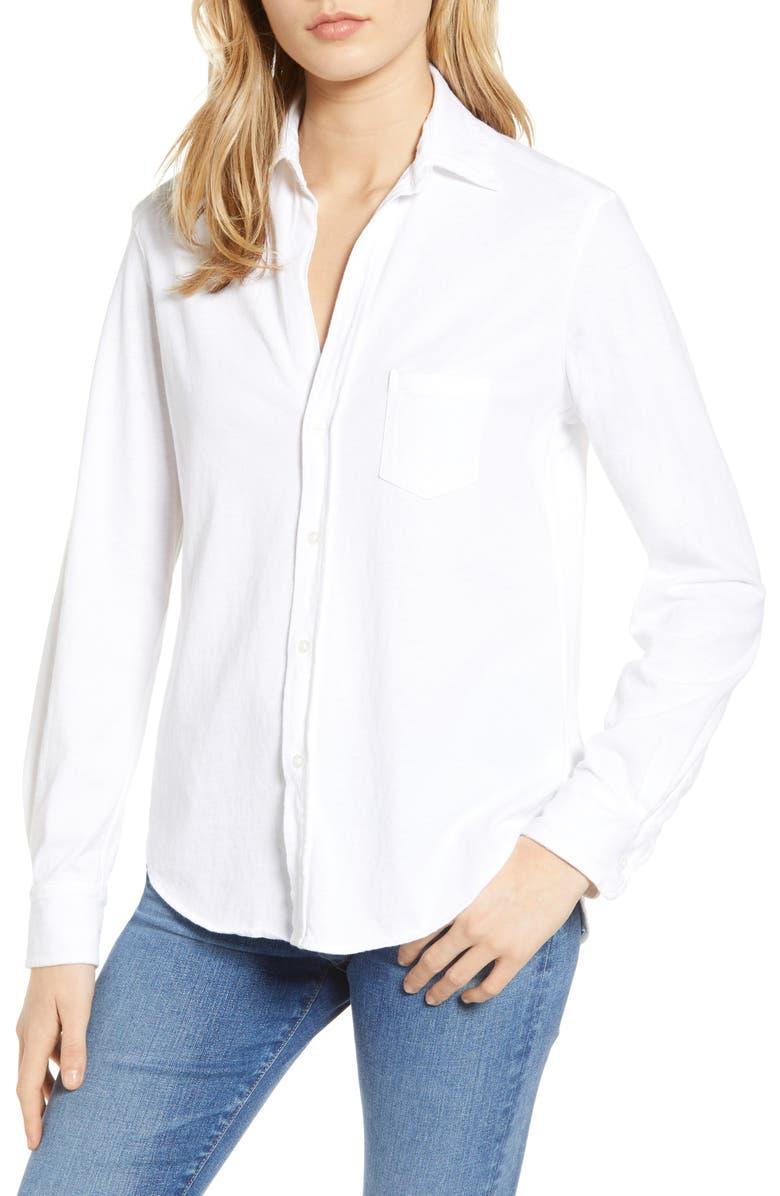 FRANK & EILEEN Tee Lab Knit Button Down Shirt, Main, color, 100