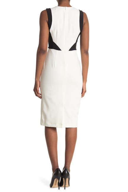 Image of Maggy London Colorblock Sleeveless Sheath Dress