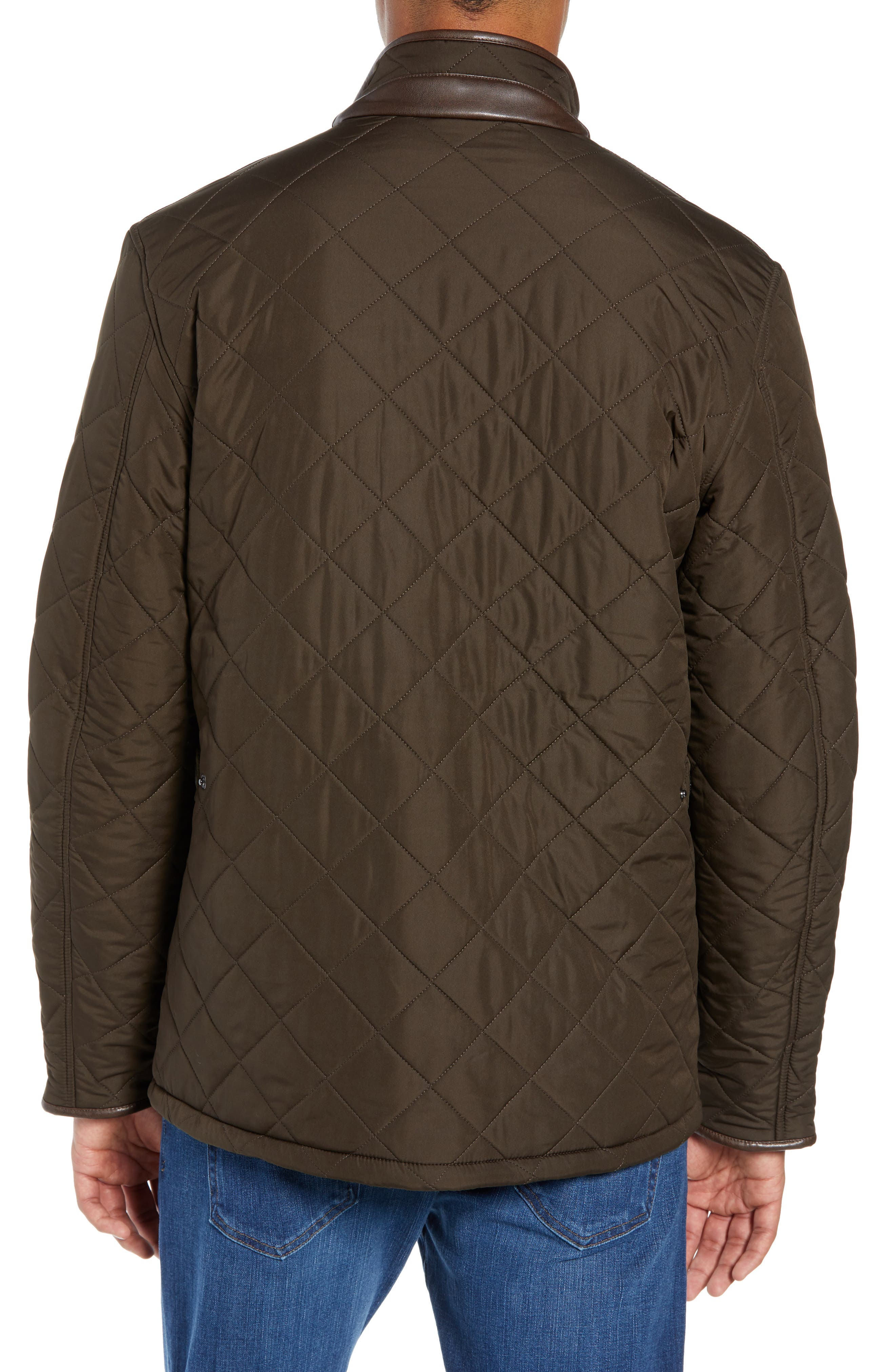 ,                             'Powell' Regular Fit Quilted Jacket,                             Alternate thumbnail 9, color,                             340
