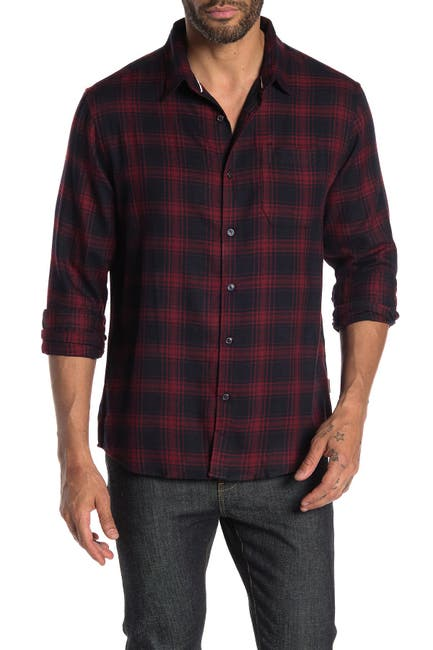 Image of 7 Diamonds Here With Me Plaid Flannel Shirt