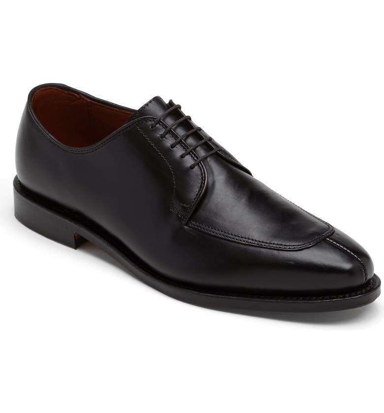 ALLEN EDMONDS Delray Split Toe Derby, Main, color, BLACK