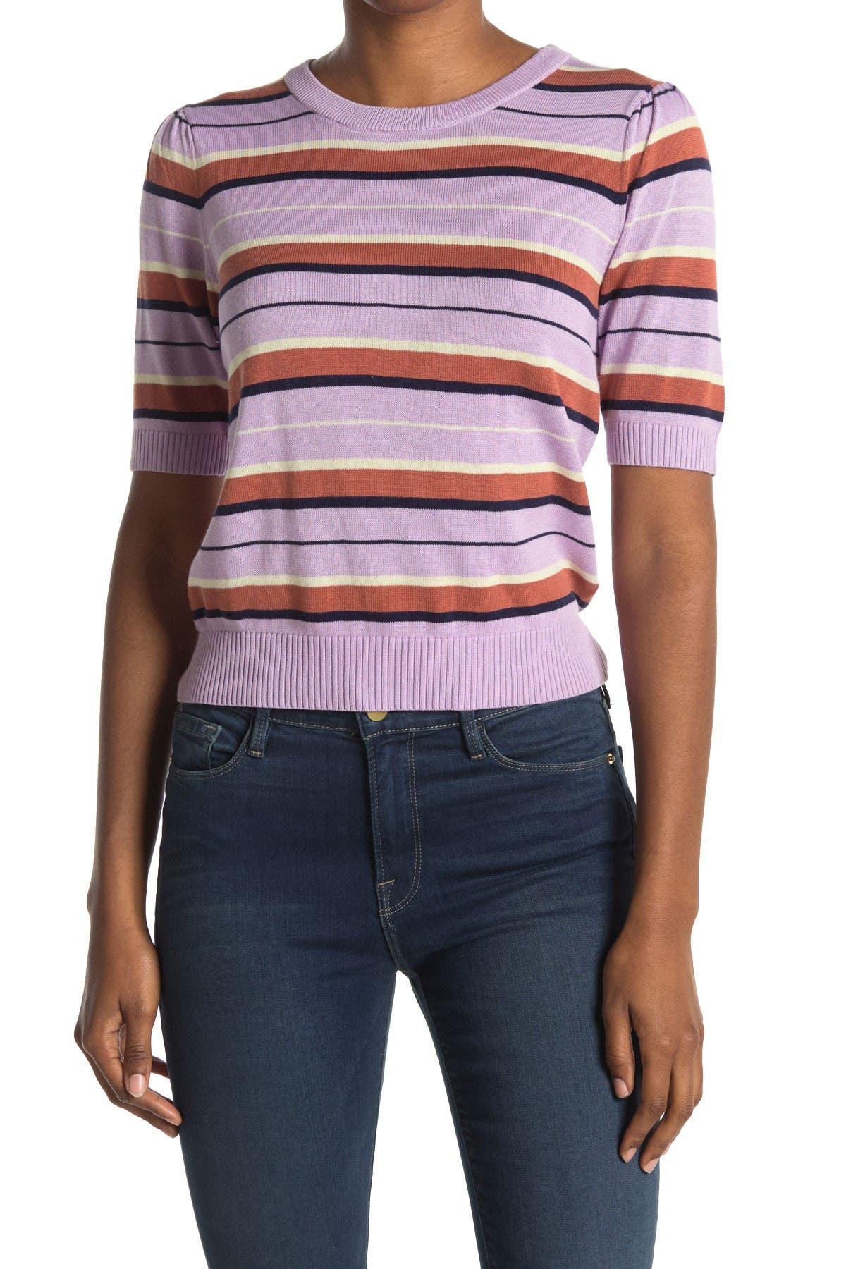 Image of Heartloom Stripe Short Sleeve Knit Sweater