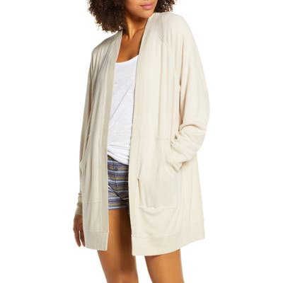 Plus Size Bp. Warm Me Up Cozy Open Cardigan, Size - Beige
